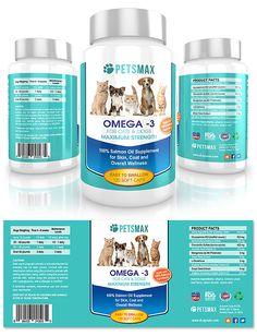 Medicine Packaging, Food Packaging, Construction For Kids, Animal Medicine, Pet Supplements, Label Templates, Packaging Design Inspiration, Omega 3, Bottle Design