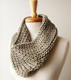 Fall Cowl Ecofriendly Organic Cotton Chunky von TickledPinkKnits <3