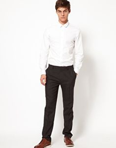 $38 ASOS Slim Fit Smart Pants In Gray Dogstooth