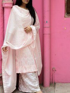 Pink Cotton Suit - Set of 3