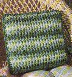 Free Crochet Box Stitch Pillow