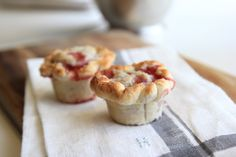 Mini strawberry and apple pies.  Wrap them up and give them as party favors