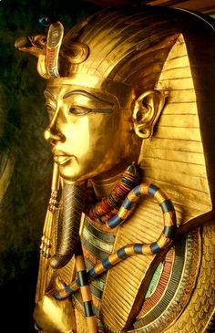 Outermost Coffin of King Tutankhamun -- Circa 1323 BCE -- Egypt, Dynasty 18 -- Egyptian Museum of Antiquities, Cairo.