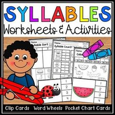 Syllables Worksheets and Activity Bundle - Counting Syllables 2nd Grade Activities, Name Activities, Environmental Print, Kindergarten Literacy, Literacy Centers, Word Sorts, Reading Workshop, Syllable, Phonics