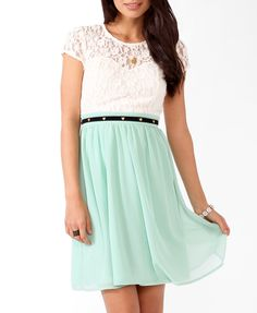 Textured Lace Sweetheart Dress. Mint dreams.