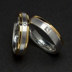 92aa6e7eb0a8  Alianzas bicolor con  Diamantes Diferentes modelos  Novios   JoséLuisJoyeroShop.  Alianzas oro blanco 18 Ktes ...