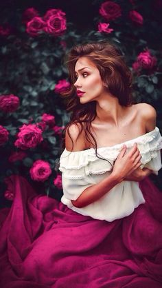 Roses and a majestic chiffon skirt