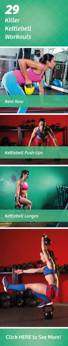 Kettlebells can give you the workout of your life if you know how to use them. Check out our 29 exercises and see why kettlebell workouts are all the rage.
