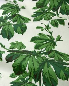 Chestnut leaves in green—an alluring chintz.