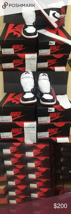 Air Jordan Retro 1 Black Toe OG HI High Red White New & Fashionable Sneakers. Only contact me when your ready to purchase. No, nobody had every worn or tried these on. No, I do not do trades AT ALL! Yes, Price is negotiable. No, payment is not done through Poshmark. dO NOT text me trying to ask or TELL me to do Posh because it will be a waste of time fir us both. Yes, text me to find out how payment is done 678-734-7723 !! Have great bundle deals if you want to buy more than one item from…