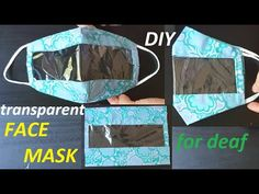 Clear Face Mask, Easy Face Masks, Diy Face Mask, Sewing Hacks, Sewing Tutorials, Mascara 3d, Techniques Couture, Creation Couture, Diy Mask