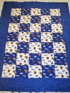 Kentucky Wildcats baby quilt