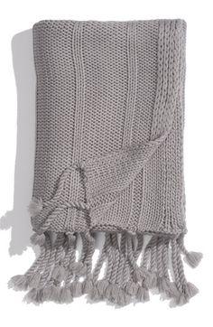 Rib Knit Throw