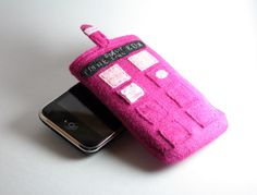 Doctor Who Valentine's Day Pink TARDIS IPhone by bowlerhatbudgie, $17.50 (wish it fit the droid)