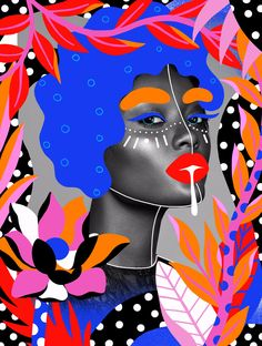 Tropical - illustration, elloillustration - andreearobescu e Collage Illustration, Photography Illustration, Digital Illustration, Art Photography, Illustrations, Collage Design, Graphic Design Art, Graphic Design Inspiration, Collage Portrait