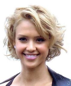 Image result for natural wavy short hairstyles for fat faces over 50