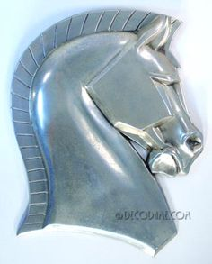American Art Deco Large Equestrian / Horse Profile Wall Plaque Circa 1930's, USA