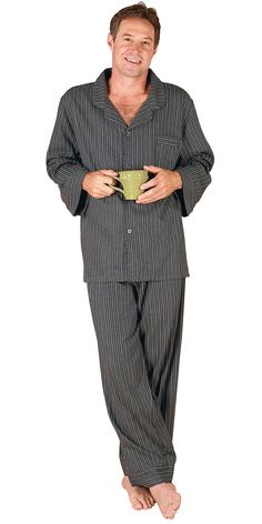 Men's Pinstripe Pajamas from PajamaGram. $59.99 #Pajamas #Men