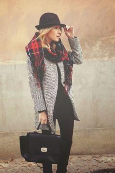 trend , tendencia,fashion, moda, street style, outfit, look, inspiration, get inspired, inspiração,tweed, tartan
