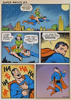 Ever wonder why Superman doesn't have a girlfriend (besides Batman)? Bd Comics, Funny Comics, Dc Memes, Funny Memes, Personnage Dc Comics, 4 Panel Life, Batman, Superman Comic, Hilarious Pictures