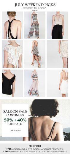 BSB Fashion Newsletter S/S 15 - July Weekend picks shop online >> www.bsbfashion.com
