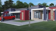3 Bedroom House Plan – My Building Plans South Africa Three Bedroom House Plan, Bedroom Floor Plans, 3 Bedroom House, My House Plans, Modern House Plans, House Floor Plans, Building Plans, Building A House, House Plans South Africa