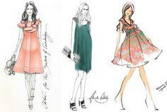 Kate Middleton Fashion Sketch. http://hative.com/30-cool-fashion-sketches/