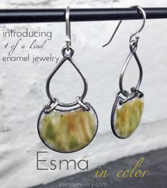 Introducing Esma in Color - 1 of a Kind Enamel Jewelry is here! http://EsmaJewelry.com