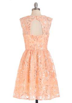 Twinkling at Twilight Dress in Peach | Mod Retro Vintage Dresses | ModCloth.com