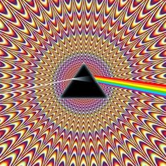 optical illusions Pink Floyd style