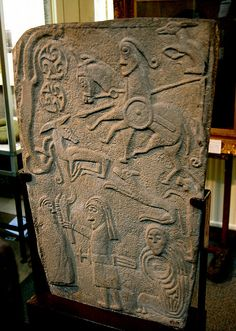 Inchbrayock (Inchbraoch) Stone. Pictish picture stone, Scotland ☙ stone circles ❧