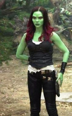 Guardians of the Galaxy Vol 2 Gamora Leather Vest by Zoe Saldana.