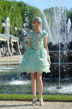 vestido menta Chanel 2012/13 Cruise Collection