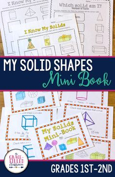 Your first grade students will love these solid shapes mini-book to learn all about 3D shapes.