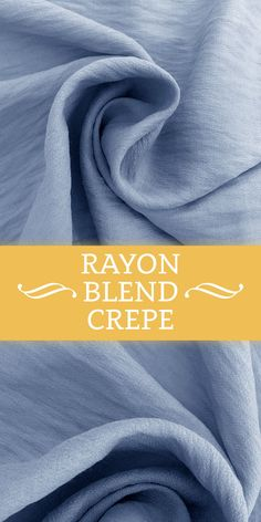 Rayon Nylon Blend Crepe in Dusty Blue