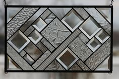 Clear Stunner Stained Glass Window Panel. $100.00, via Etsy.
