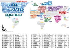 0061 Gruner & Jahr – Worldmap of Billionaires # map