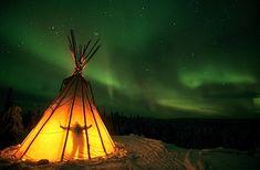 Aurora Yellowknife, Canada / Indian TeePee Dance by Steve Shuey Fotos Do Canada, Beautiful World, Beautiful Places, Alaska, Indian Teepee, Night Photography, Inspiring Photography, Artistic Photography, Landscape Photography