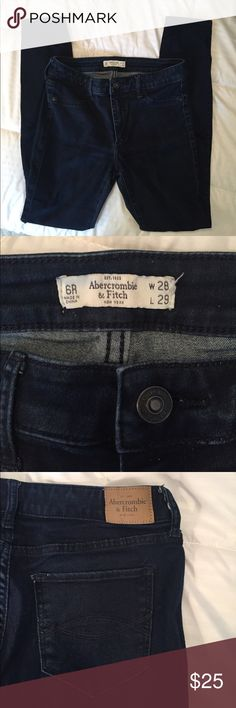 A&F dark wash jeggings EUC Abercrombie and fitch dark wash jeggings Abercrombie & Fitch Jeans Skinny