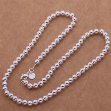 WN652 Горячая Элегантный Несколько Бусины Ожерелья (20 Дюймов 6 ММ) Высокое Качество Горячей Ювелирных Серебряные Ювелирные изделия Моды для Женщин ожерелье(China (Mainland))