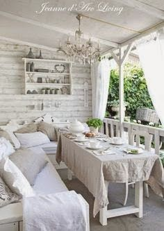Shabby Chic Kitchen Table And Chairs via Shabby Chic Furniture Australia where Romantic Shabby Chic Bedroom Ideas without Shabby Chic Living Room Ideas On A Budget Porche Shabby Chic, Shabby Chic Terrasse, Jardin Style Shabby Chic, Shabby Chic Outdoor Decor, Shabby Chic Veranda, Shabby Chic Mode, Muebles Shabby Chic, Shabby Chic Porch, Shabby Chic Garden
