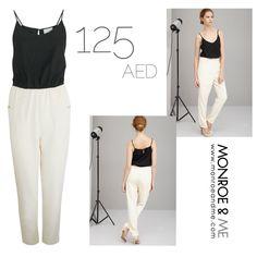 2in1 Jumpsuit  ideal for all occasions! #lavishalice #sale #jumpsuit #contrast #colourblock #workwear #brunch #ladiesnight #tailored #monochrome #fashion #style #trend #monroeandme #dubai #mydubai #uae #abudhabi