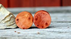 114mm Deep Red Redwood burl ear plugs,  Organic Beautiful hand crafted redwood…