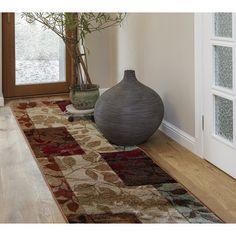 "Andover Mills Raffin Elegant Leaves Area Rug Rug Size: Runner 1'9"" x 7'2"""