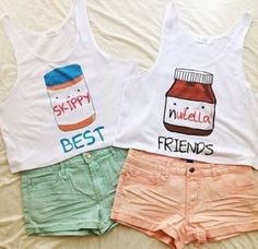 BFF Skippy and Nutella Crop Tops