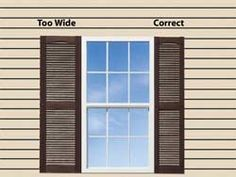 exterior window shutters | shutter height in most cases the height of decorative shutter