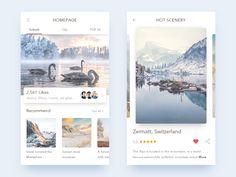 Scenery app by Ink Glow #Design Popular #Dribbble #shots