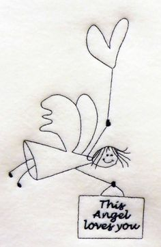 {Angels- This Angel Loves YouSULKY-1161-PES K.H.} Embroidery Designs, Machine Embroidery, Applique, Motifs, Angels, Free, Couture, Needlepoint, Free Machine Embroidery