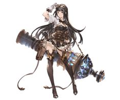Jessica Character Art from Granblue Fantasy Female Character Design, Character Concept, Character Art, Concept Art, Dnd Characters, Fantasy Characters, Female Characters, Fantasy Anime, Fantasy Girl