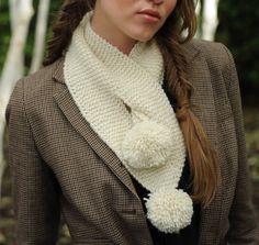 Charlie Pompom Scarf Knitting Kit
